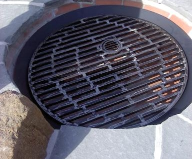 Fire Ring With Removable Cooking Grate